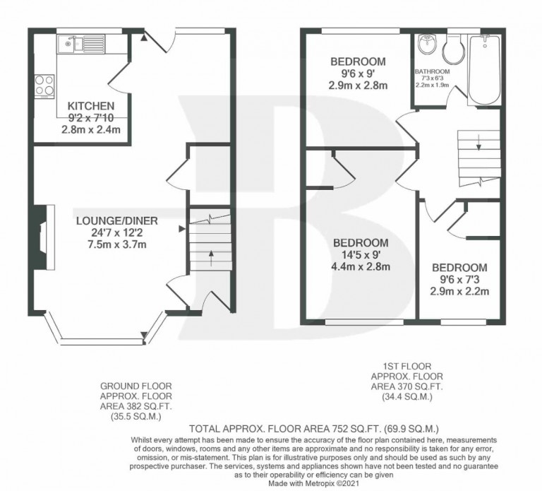 Floorplans For Rowan Close, Fishponds