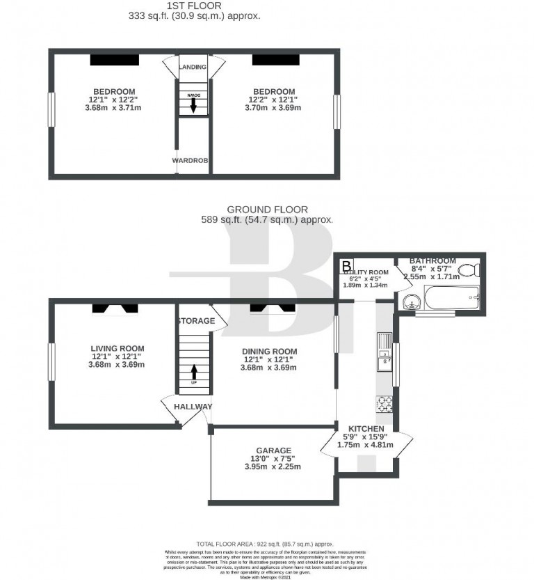 Floorplans For Bromley Road, Ashley Down